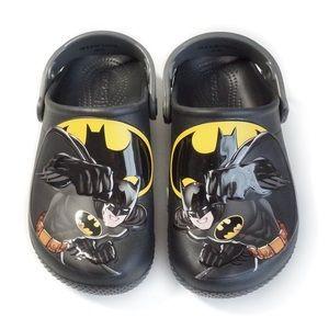 Batman Crocs size C13 black yellow superhero